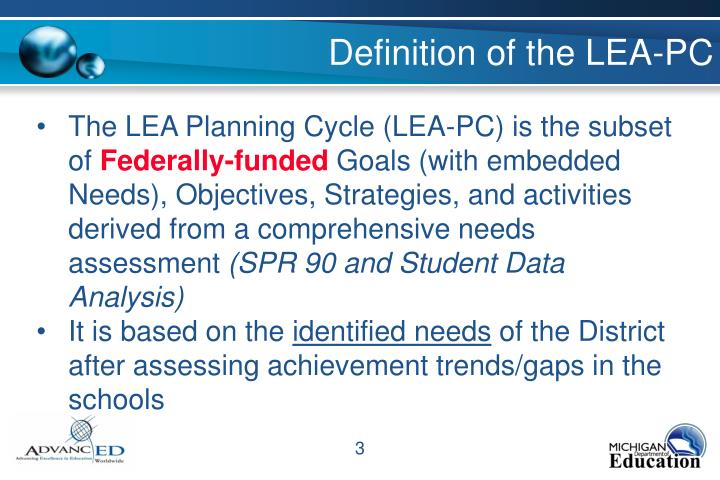 Definition of the LEA-PC