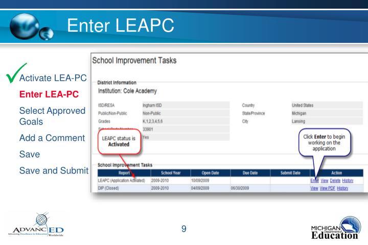 Enter LEAPC