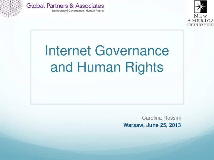internet governance and human rights n.
