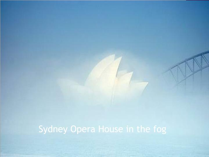 Sydney Opera House in the fog