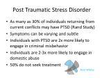 post traumatic stress disorder