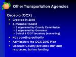 other transportation agencies1