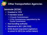 other transportation agencies3