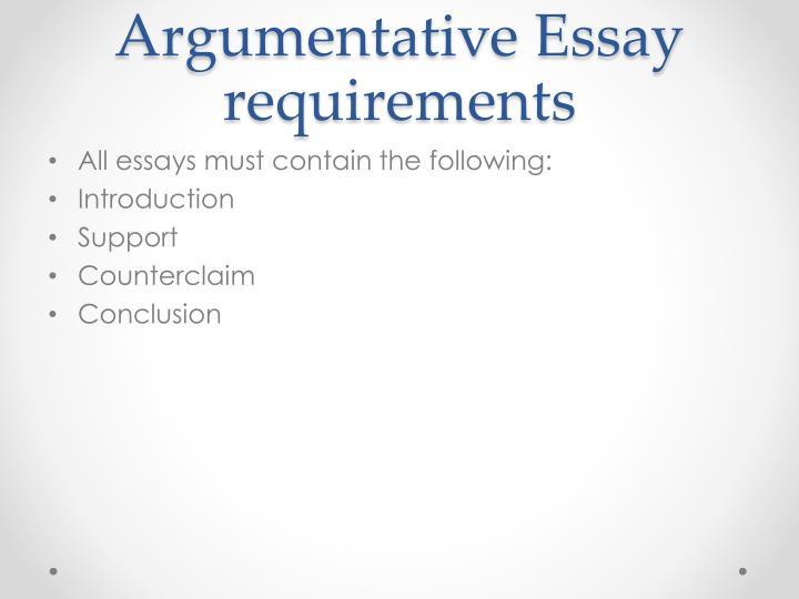 Argumentative essay requirements
