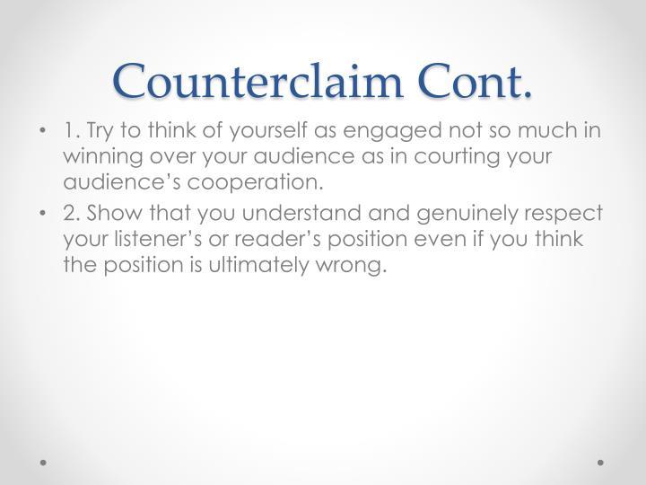 Counterclaim Cont.