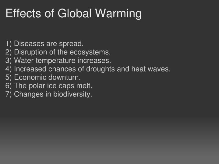 Effects of Global Warming