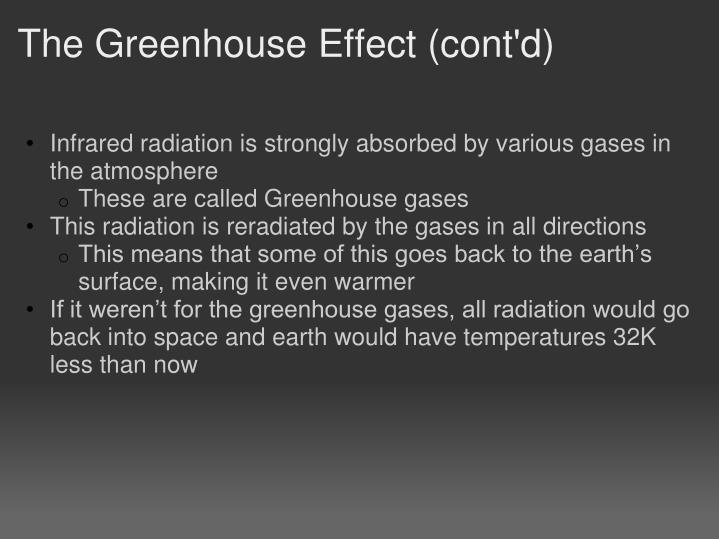 The Greenhouse Effect (cont'd)