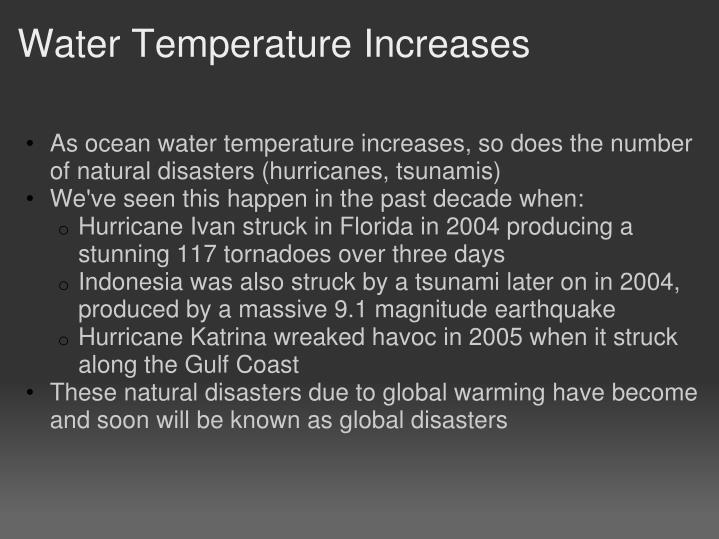 Water Temperature Increases