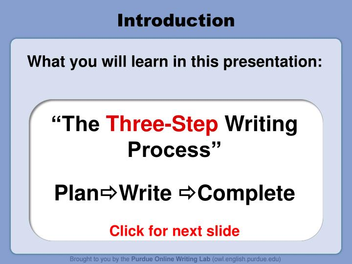 writing process powerpoint presentation Welcome to presentation process  3 useful checklists for your next business powerpoint presentation how to create 3d pop out picture effect in powerpoint 2013.