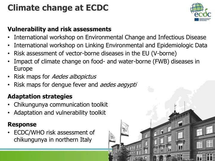 Climate change at ECDC