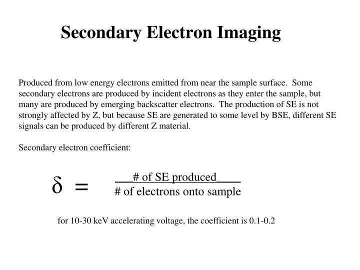Secondary Electron Imaging
