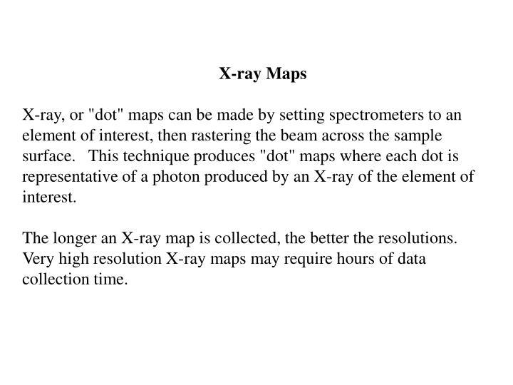 X-ray Maps