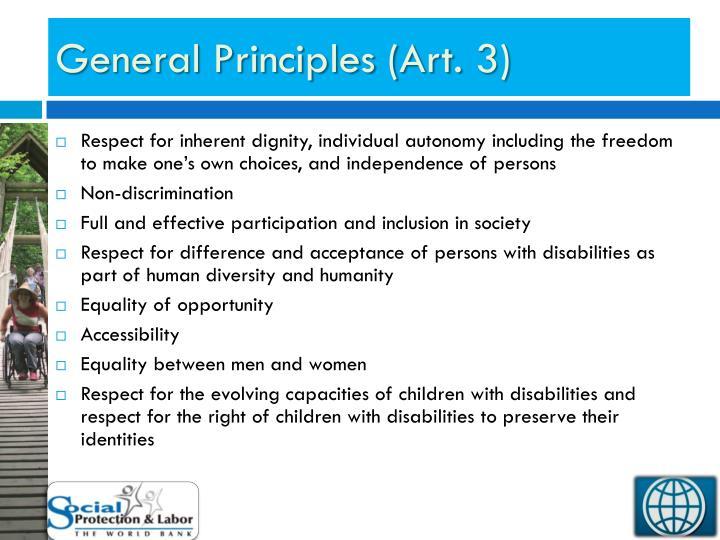 General Principles (