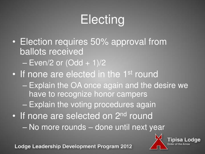 Electing