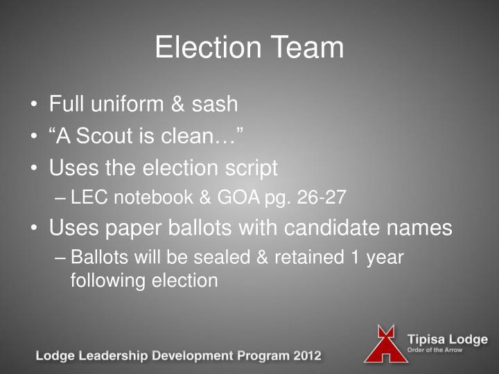 Election Team