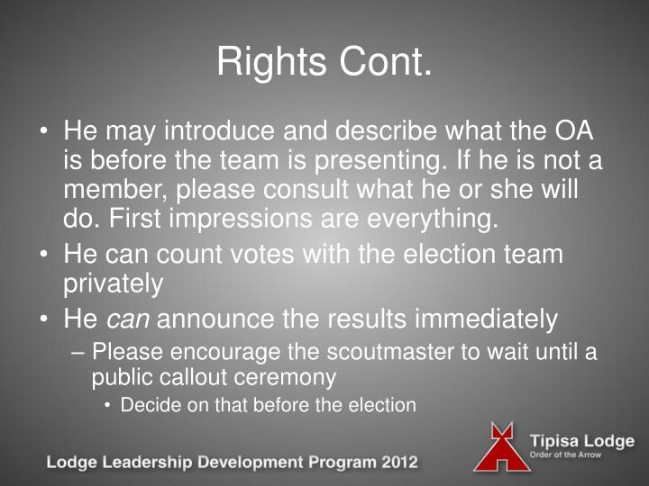 Rights Cont.