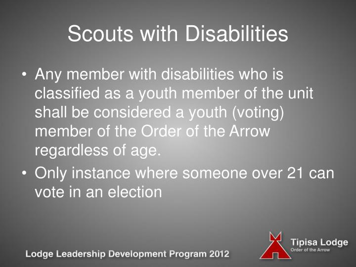 Scouts with Disabilities