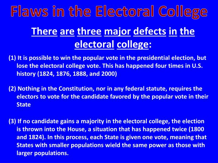 Flaws in the Electoral College