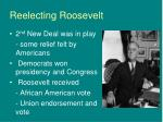 reelecting roosevelt