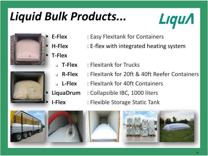 Liquid Bulk Products...