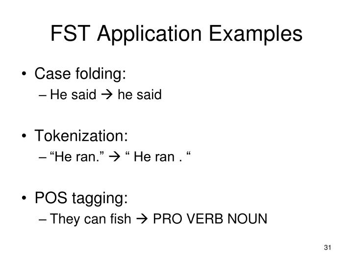 FST Application Examples