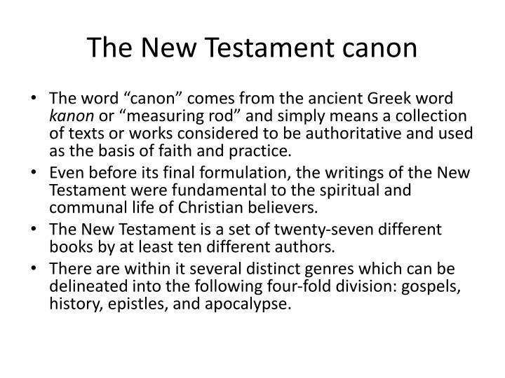 The new testament canon
