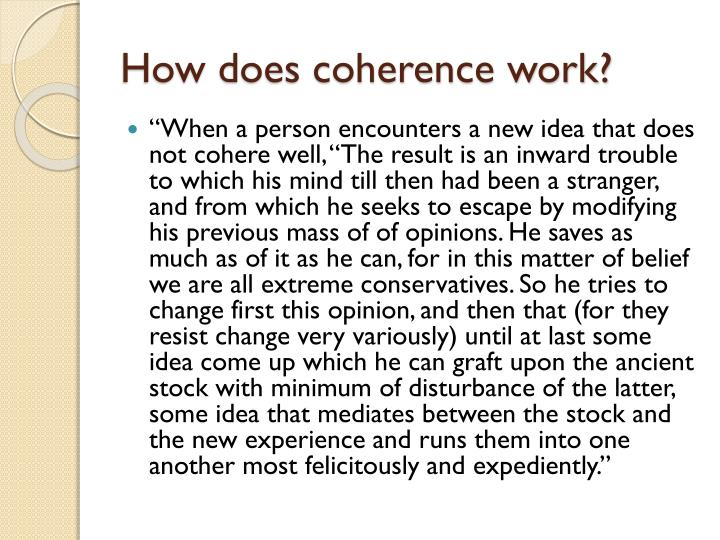 How does coherence work?