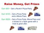 raise money get prizes