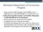 minnesota department of corrections progress