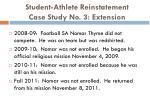 student athlete reinstatement case study no 3 extension