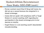 student athlete reinstatement case study soc cwe cont1