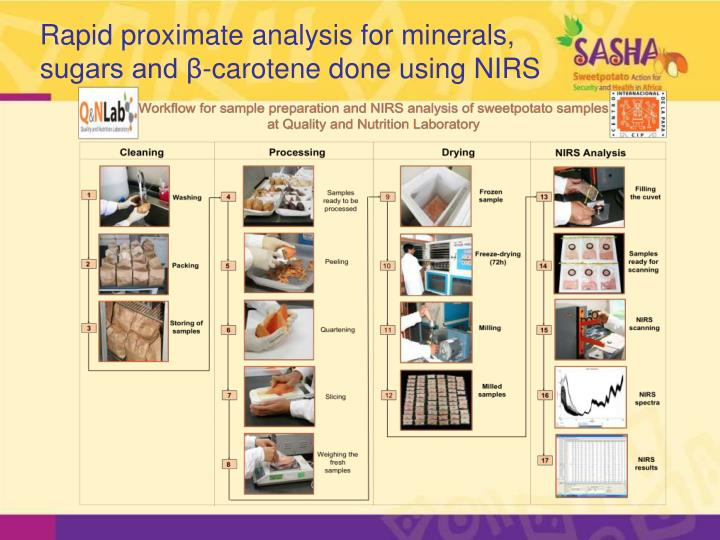 Rapid proximate analysis for minerals,