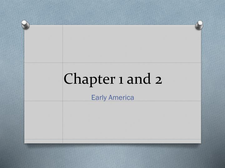 chapter 1 and 2 n.