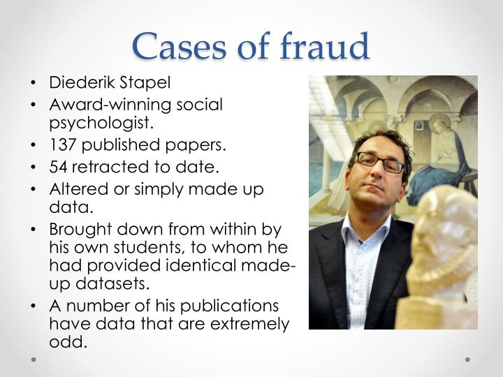 Cases of fraud