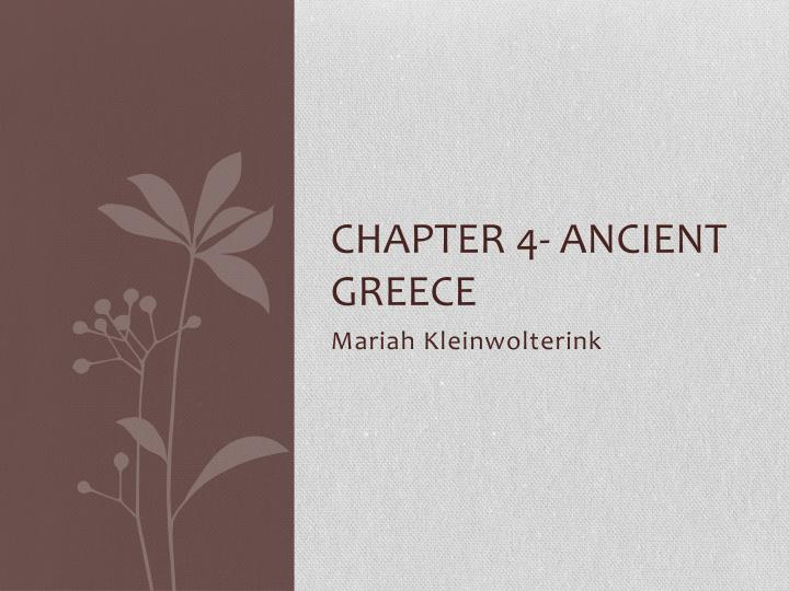 chapter 4 ancient greece n.