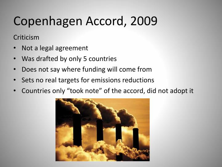 Copenhagen Accord, 2009