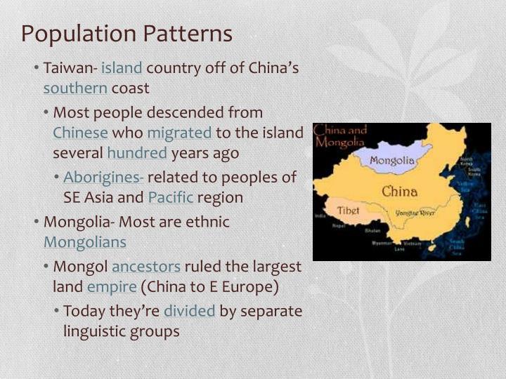 Population patterns1