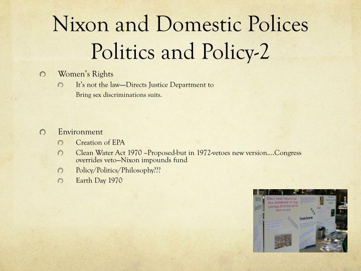 Nixon and Domestic Polices