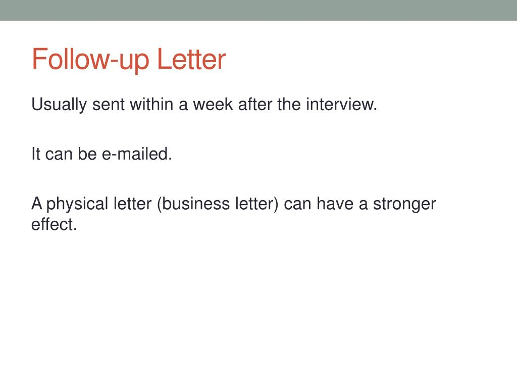 Follow Up Letter To An Interview from image1.slideserve.com