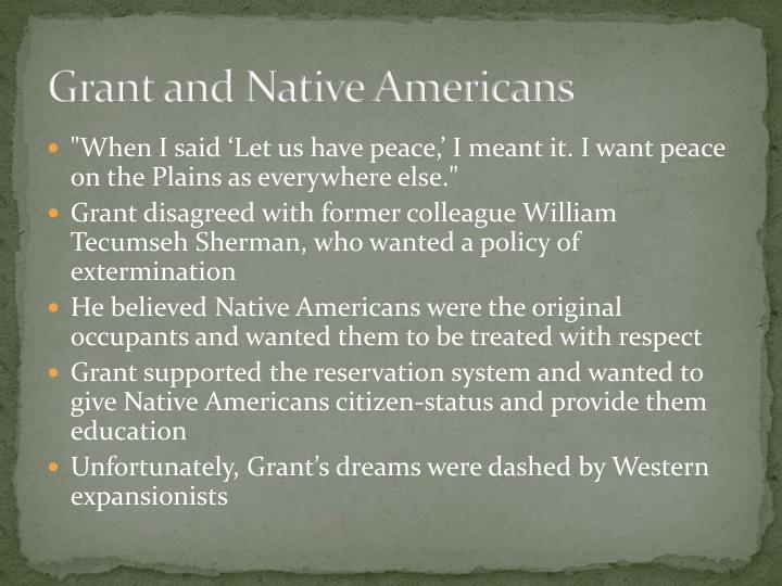 Grant and Native Americans
