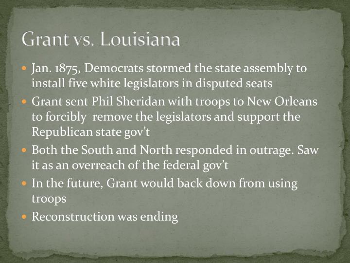 Grant vs. Louisiana