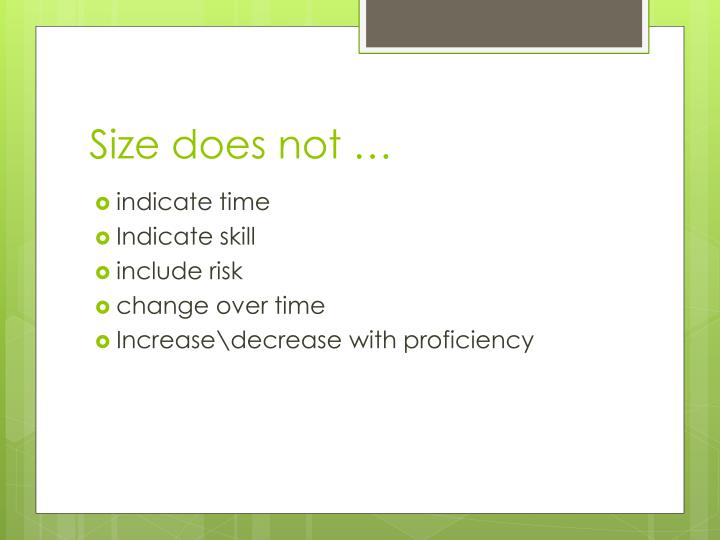 Size does not …
