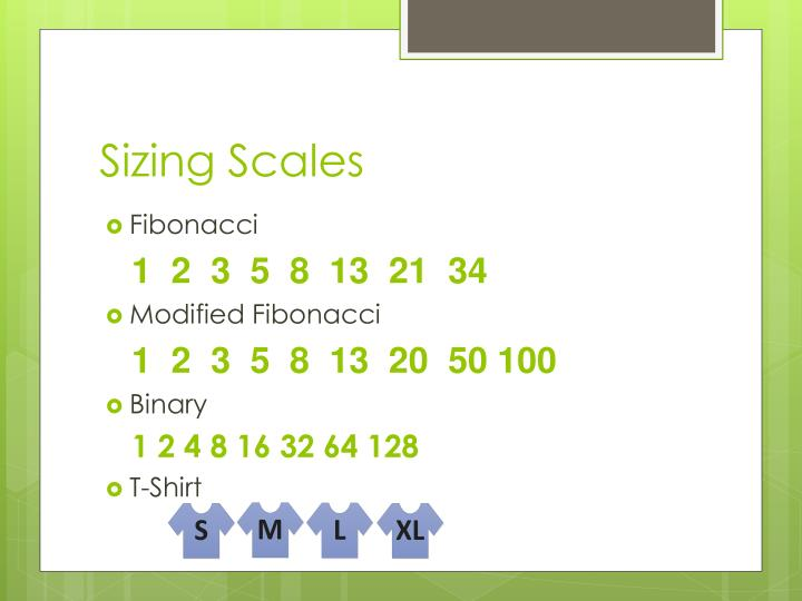 Sizing Scales