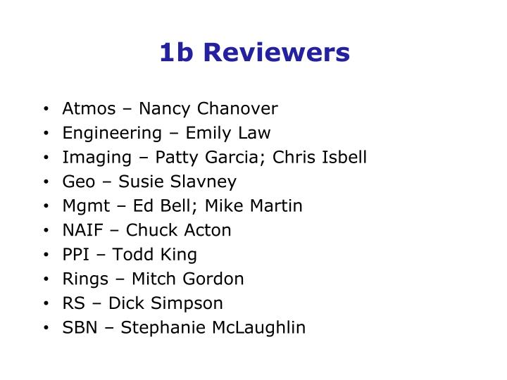 1b reviewers