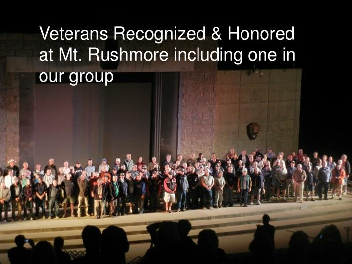 Veterans Recognized & Honored