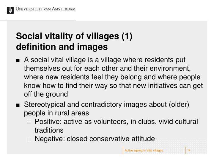 Social vitality of villages (1)