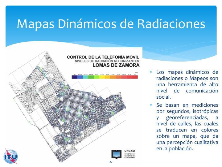 Mapas Dinámicos de Radiaciones