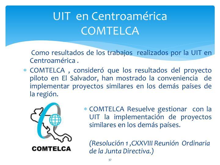 UIT  en Centroamérica