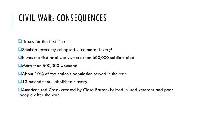 Civil war: consequences
