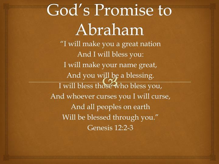 God s promise to abraham